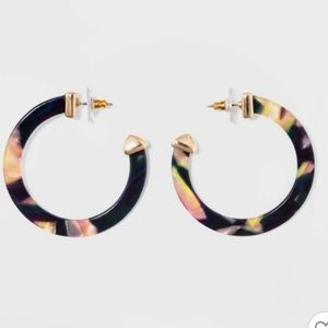 SUGARFIX by BaubleBar Classic Resin Hoop Earrings
